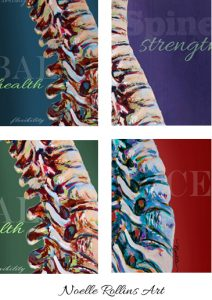 spine with colorful backgrounds