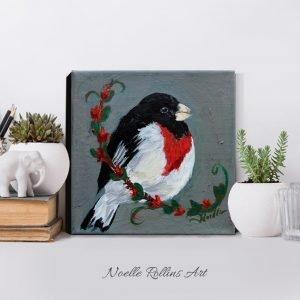 original painting of bird