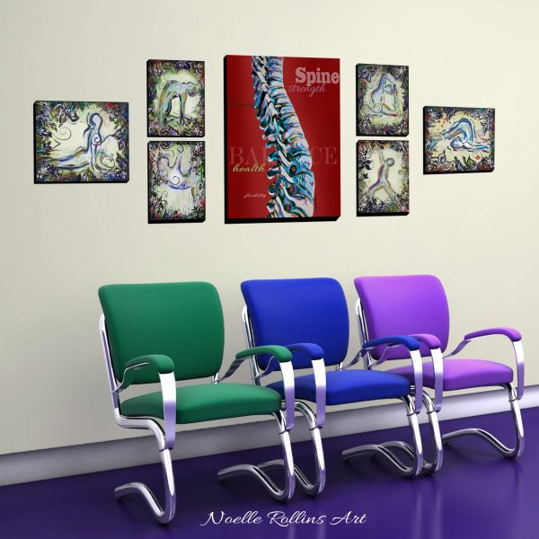 set of wall art for chiro