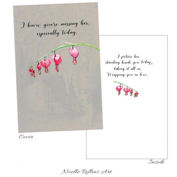 remembrance card to honor woman passed away