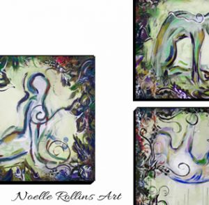 complete wall art set of yoga art