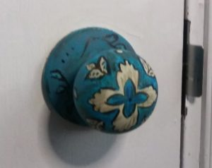 painted door knob