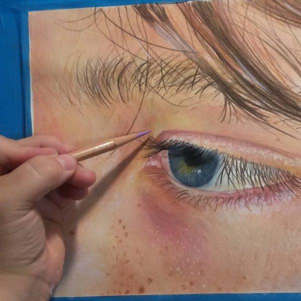 artwork portrait eye closeup