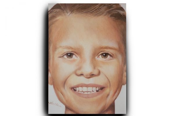 portrait example of boy in colored pencil