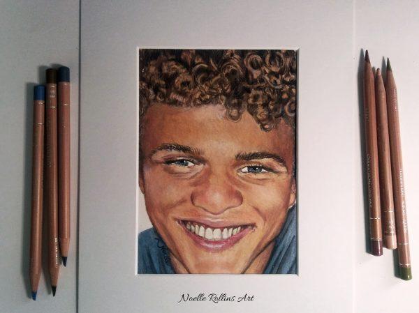 curly hair devin portrait
