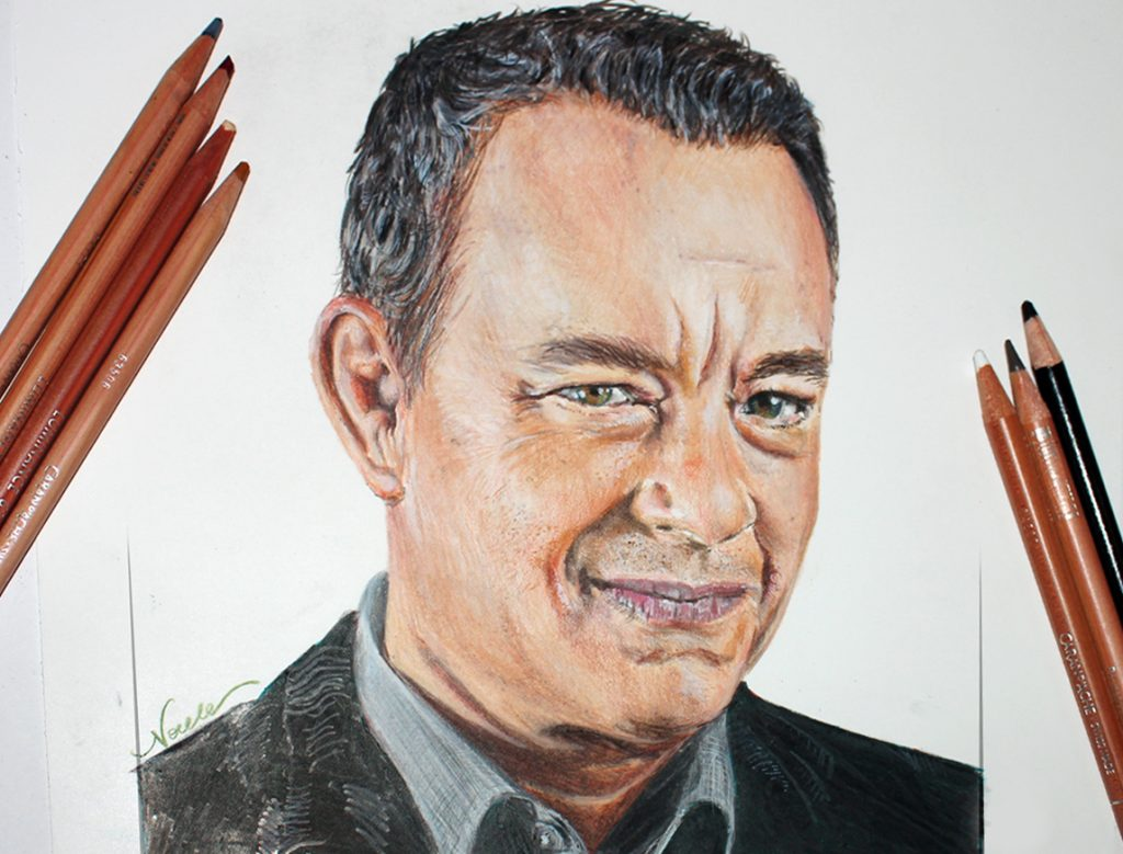 Tom Hanks portrait drawing