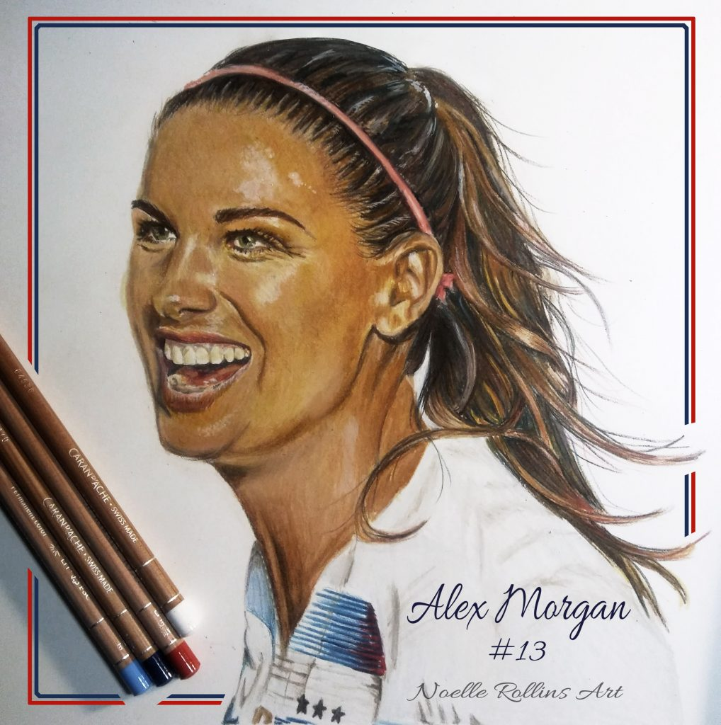 finished portrait of alex morgan