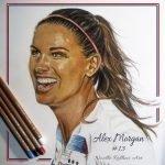 finished portrait of alex morgan