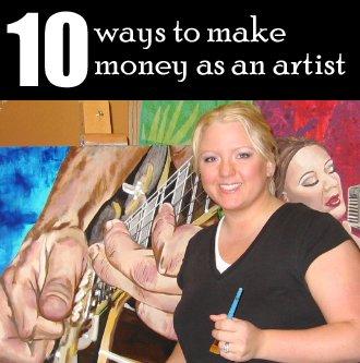 make money as an artist headline photo