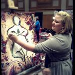 Noelle Live painting