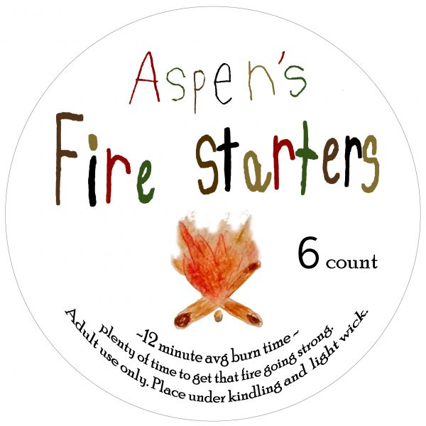 Aspens fire starters label