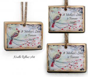 female cardinal remembrance ornaments