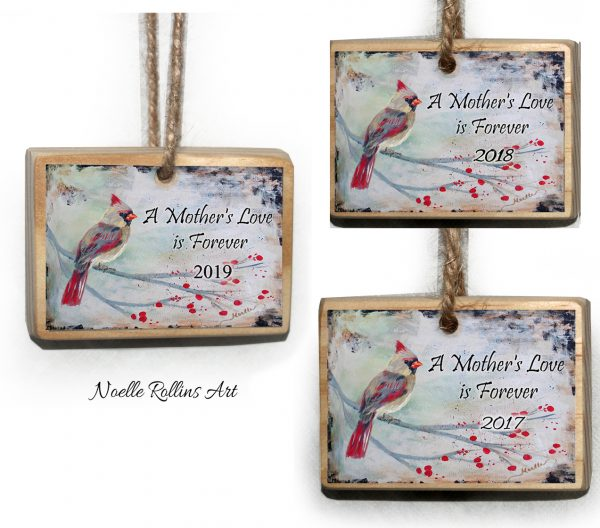female cardinal remembrance ornaments