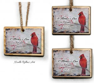 cardinal remembrance ornaments past years