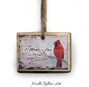 red cardinal ornament