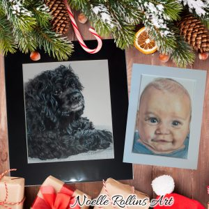 custom portraits for christmas gifts