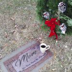 coffee mug at grave