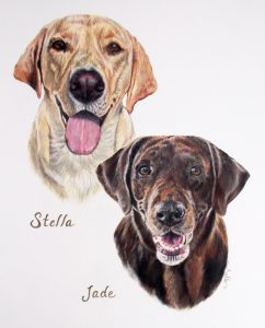 two labs art