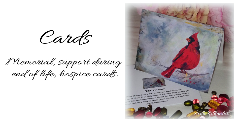 memorial cards and support card hospice,