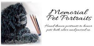 memorial pet portrait art
