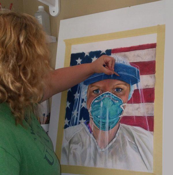 Noelle drawing nurse art