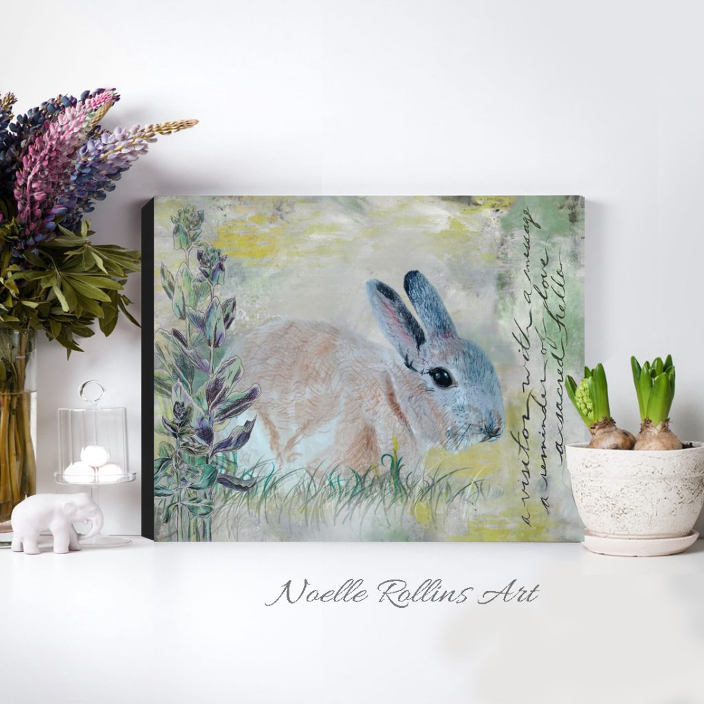 bunny visitor memorial wall art gift