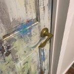 faux weathered door