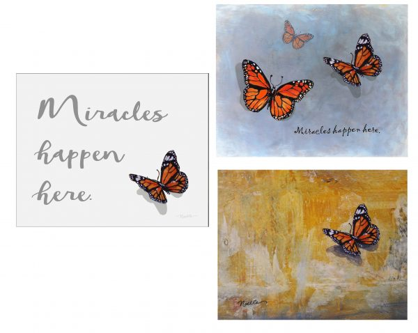 Butterfly Miracles print choices