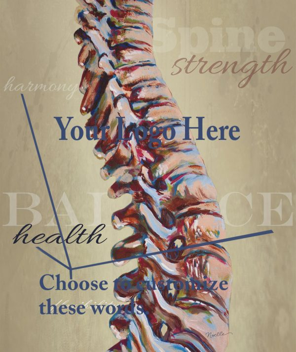 art with my logo on it for chiropractor office