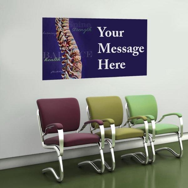 purple chiropractor art with message