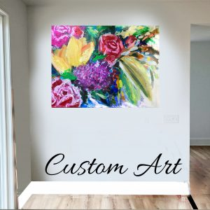 floral artwork commission